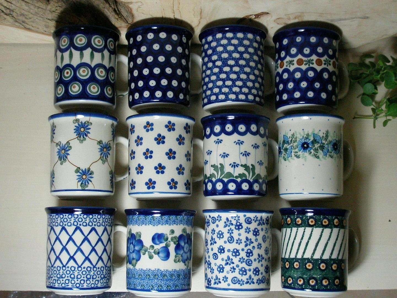 bild 12er becher pot set ca 300 ml bunzlauer keramik. Black Bedroom Furniture Sets. Home Design Ideas