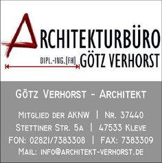 Architekt Kleve architekt dipl ing götz verhorst in kleve