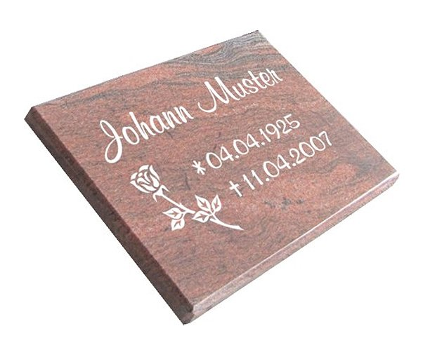 Grabstein aus poliertem Granit Multicolor Red