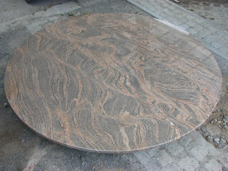 Bild runde tischplatte granit juparana colombo for Marmor tischplatte preise