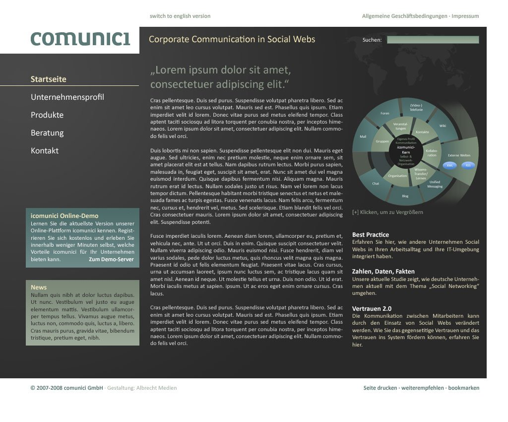 "Screendesign ""comunici\"""