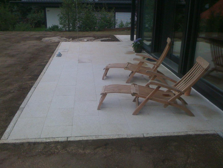 Bild Terrassenplatten Granit Gelb Rutschfest 01454
