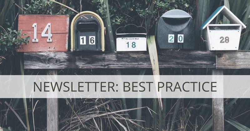 Newsletter Best Practice für B2B-Anzeige
